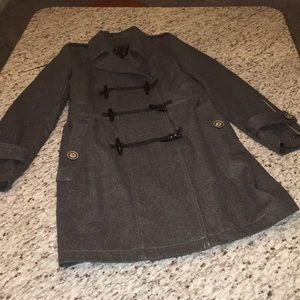 Jackets & Blazers - NWOT Juniors grey wool coat.